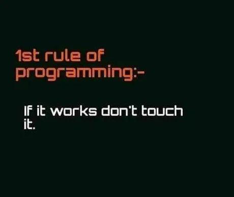Programming rules :)