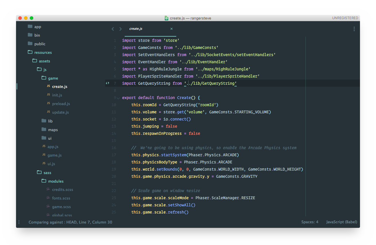 material theme screenshot