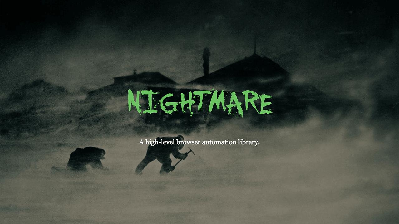 Nightmare JS