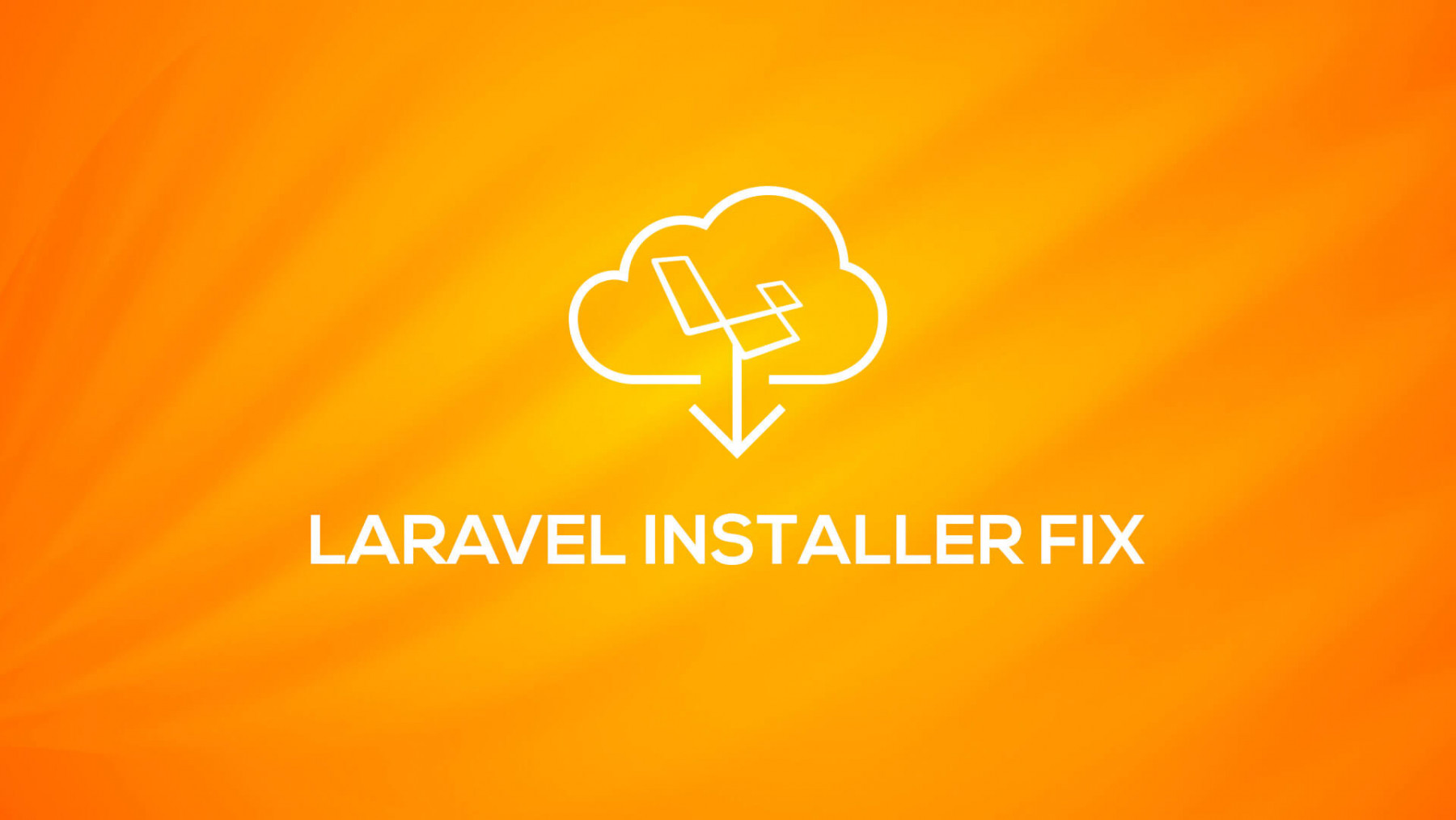 Laravel Installer Fix