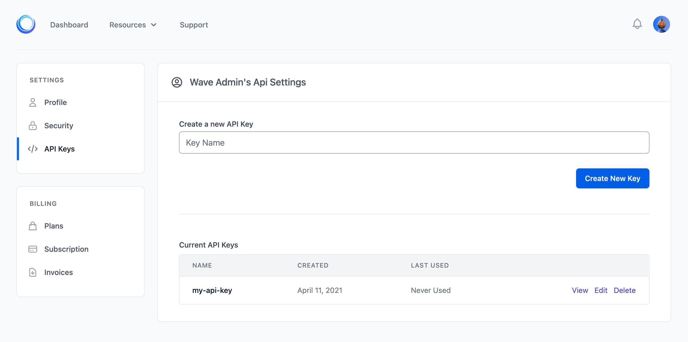 API feature
