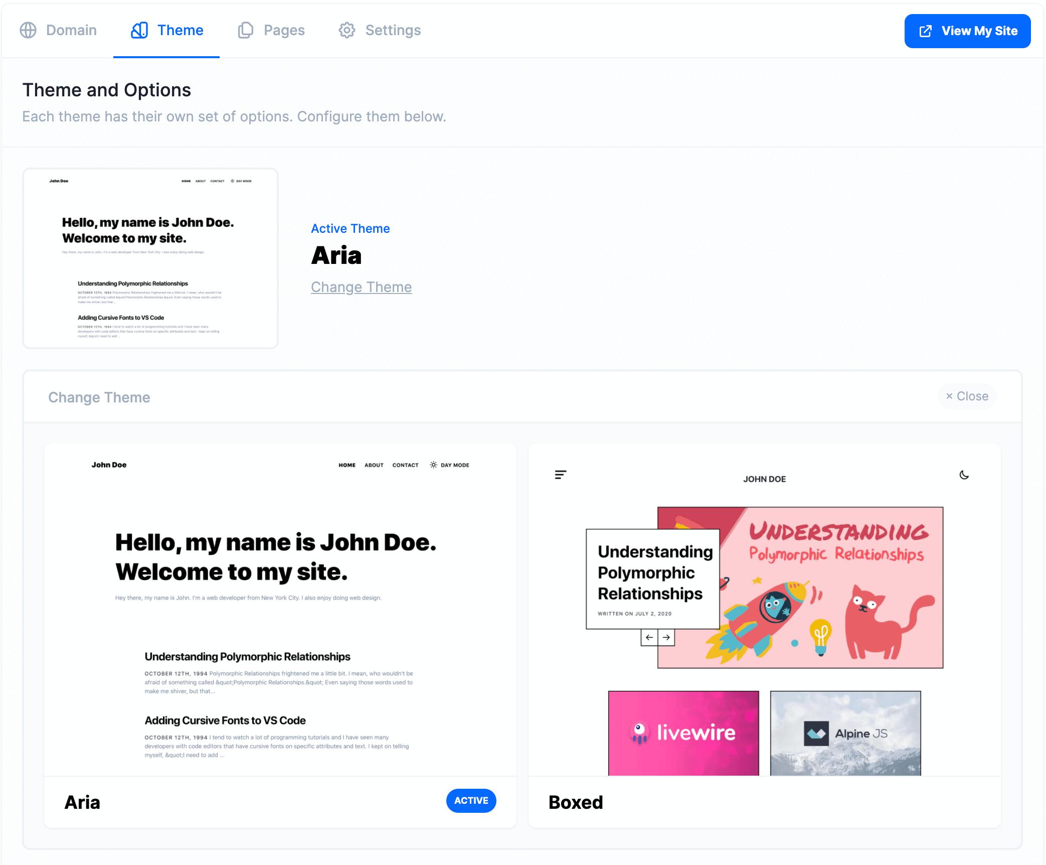 Developer Blog Themes