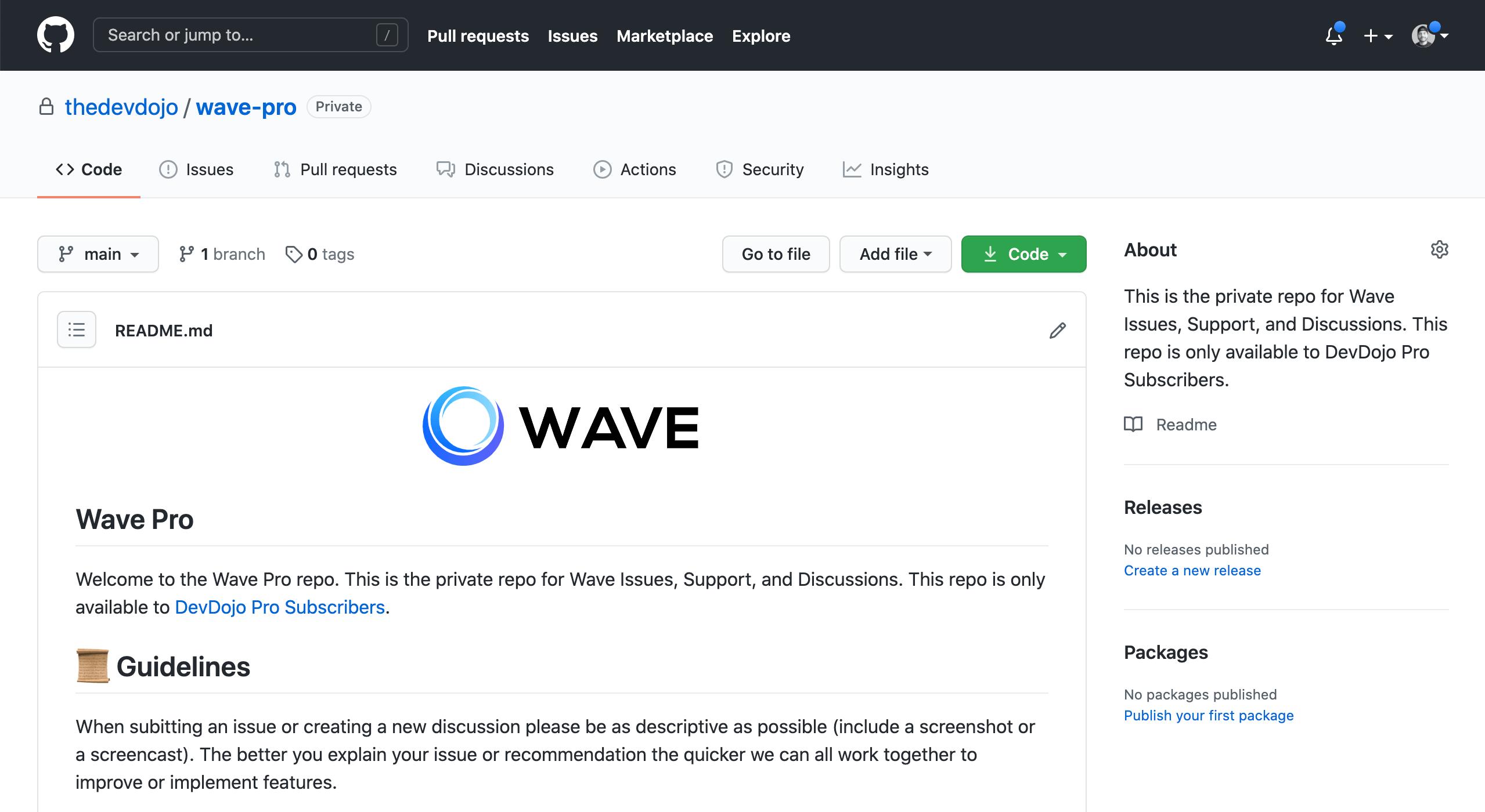Wave Pro Repo