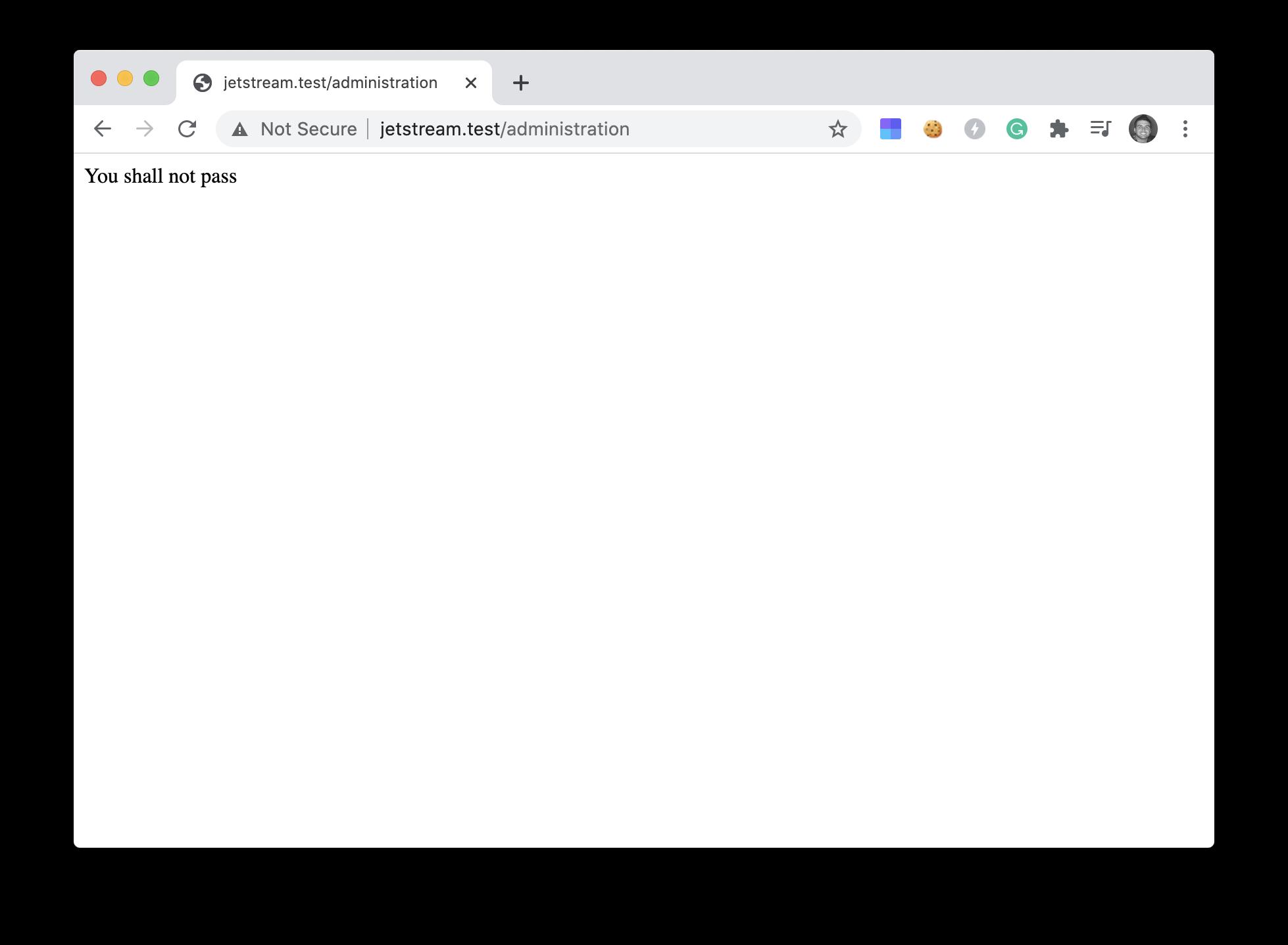 Admin denied access