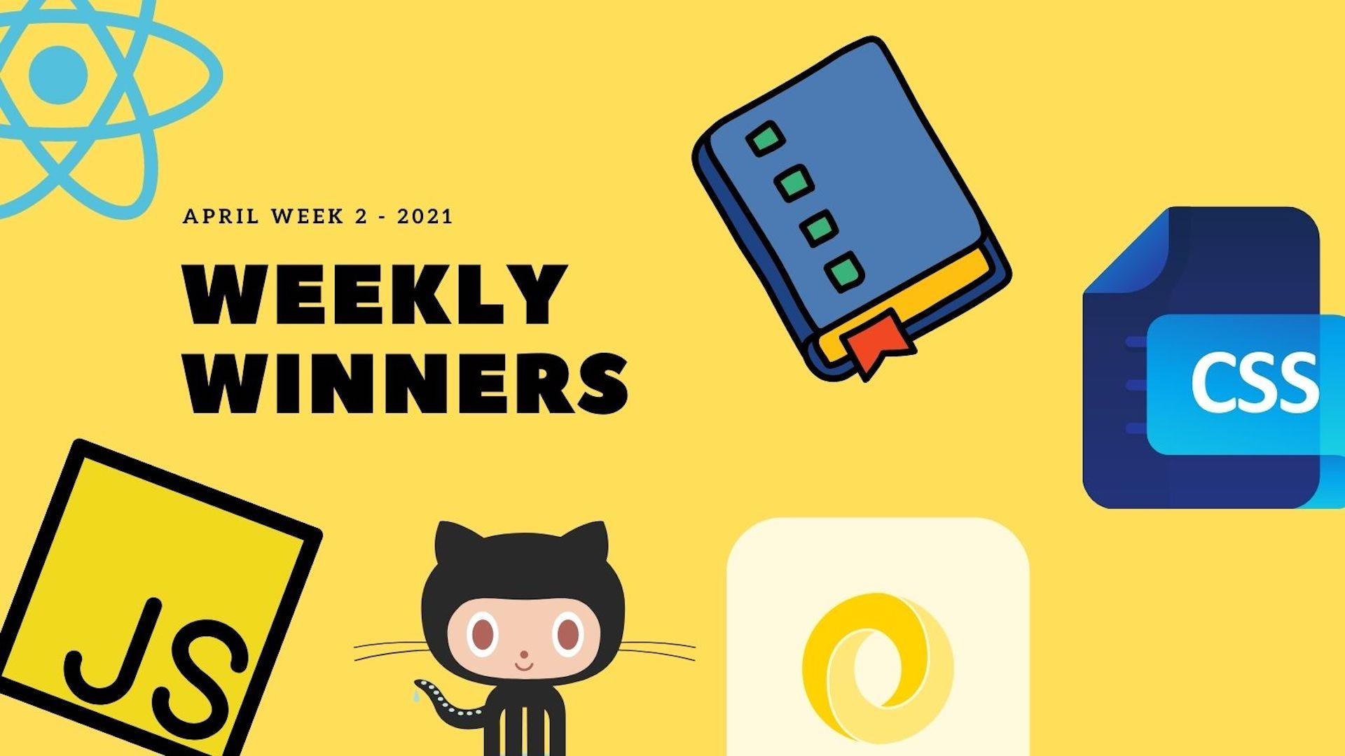 DevDojo Weekly Winners Week 2 April 2021