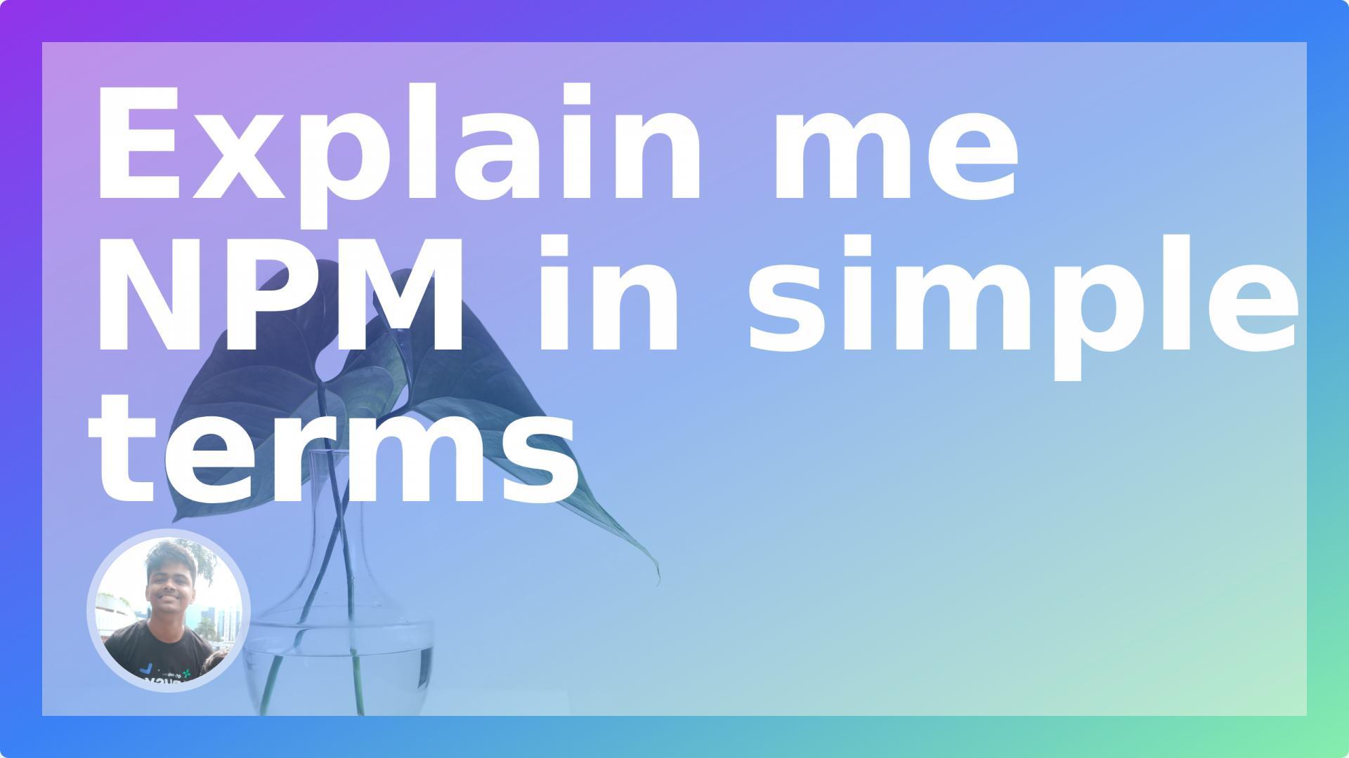 Explain me NPM in simple terms