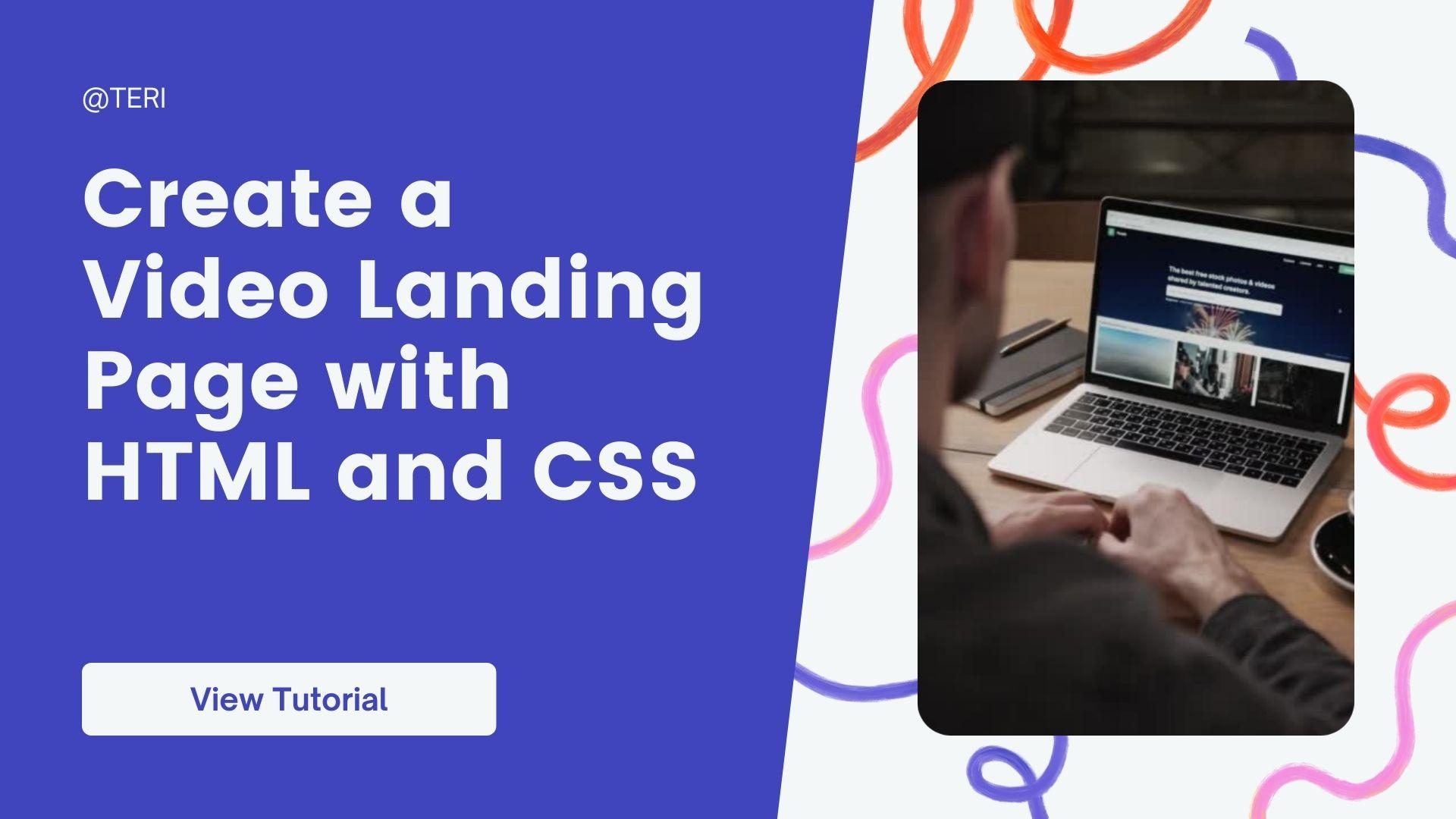 Create a Video Landing Page with HTML and CSS