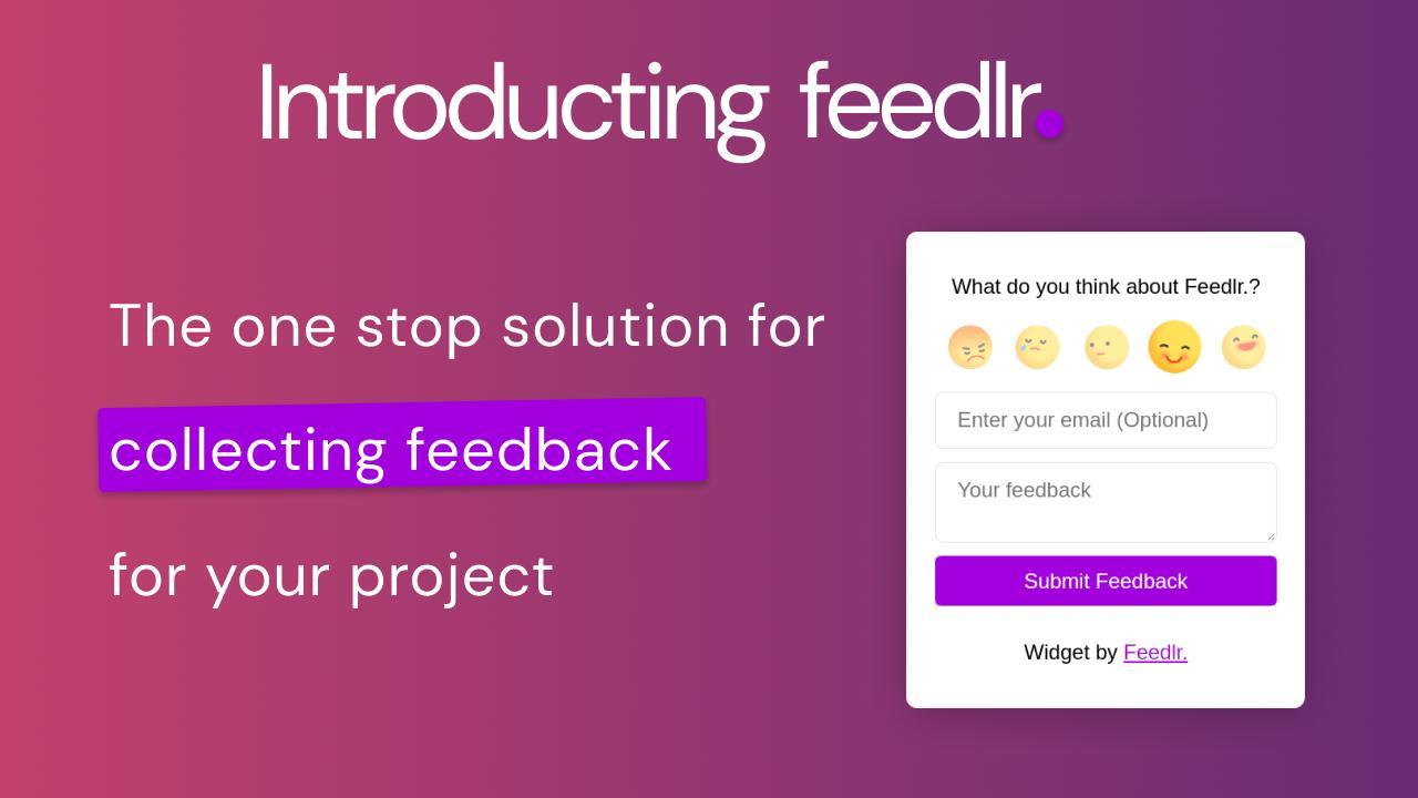 Introducing Feedlr. - the ultimate tool for feedback collection.