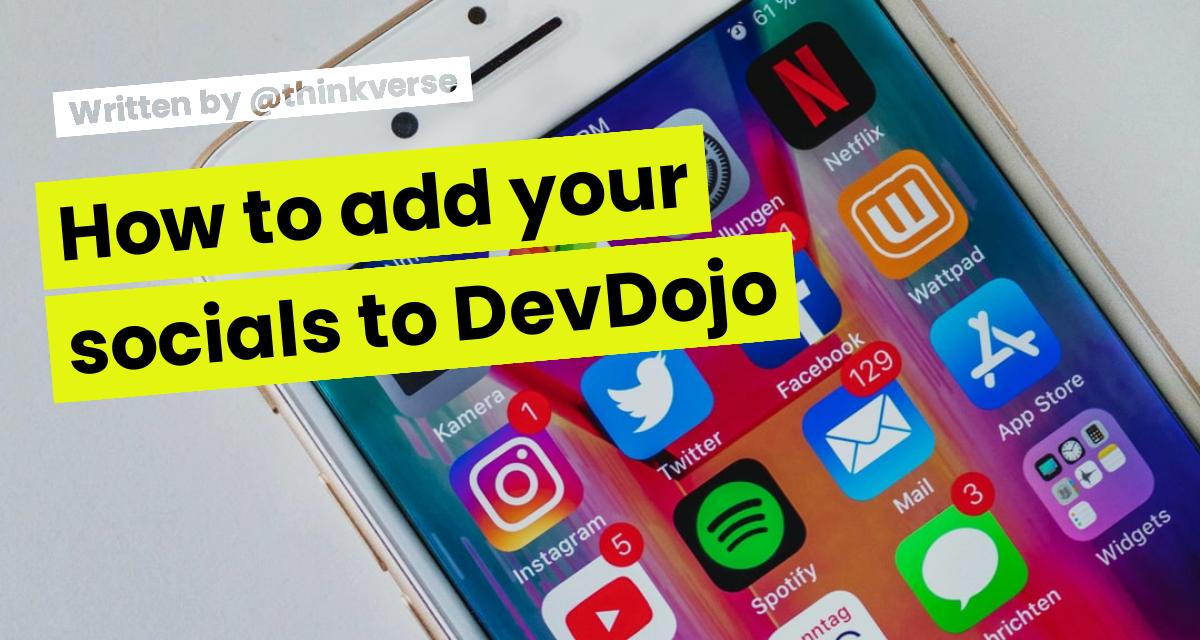 How to add your socials to DevDojo