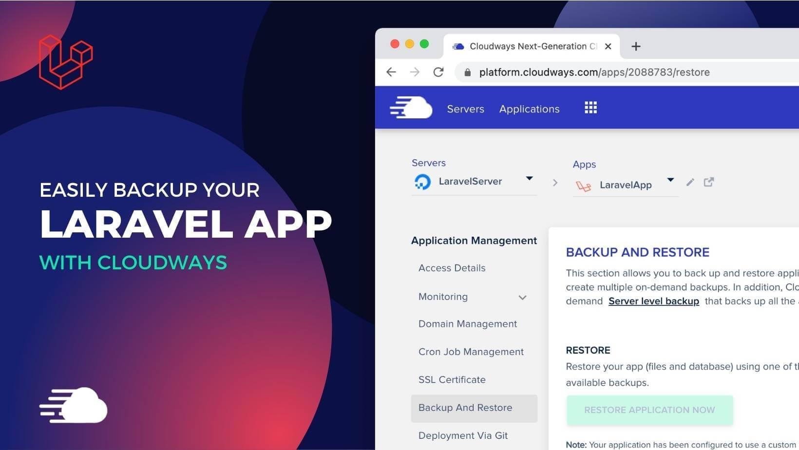 Laravel Backups with Cloudways