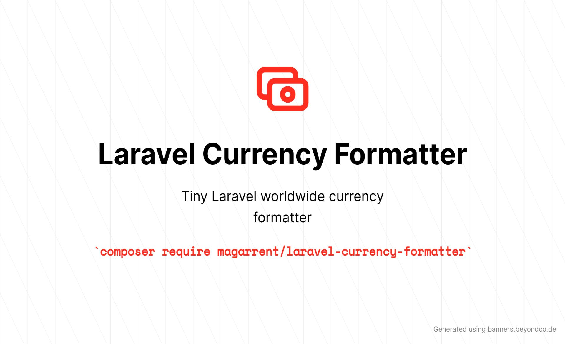 [Package] Laravel Currency Formatter