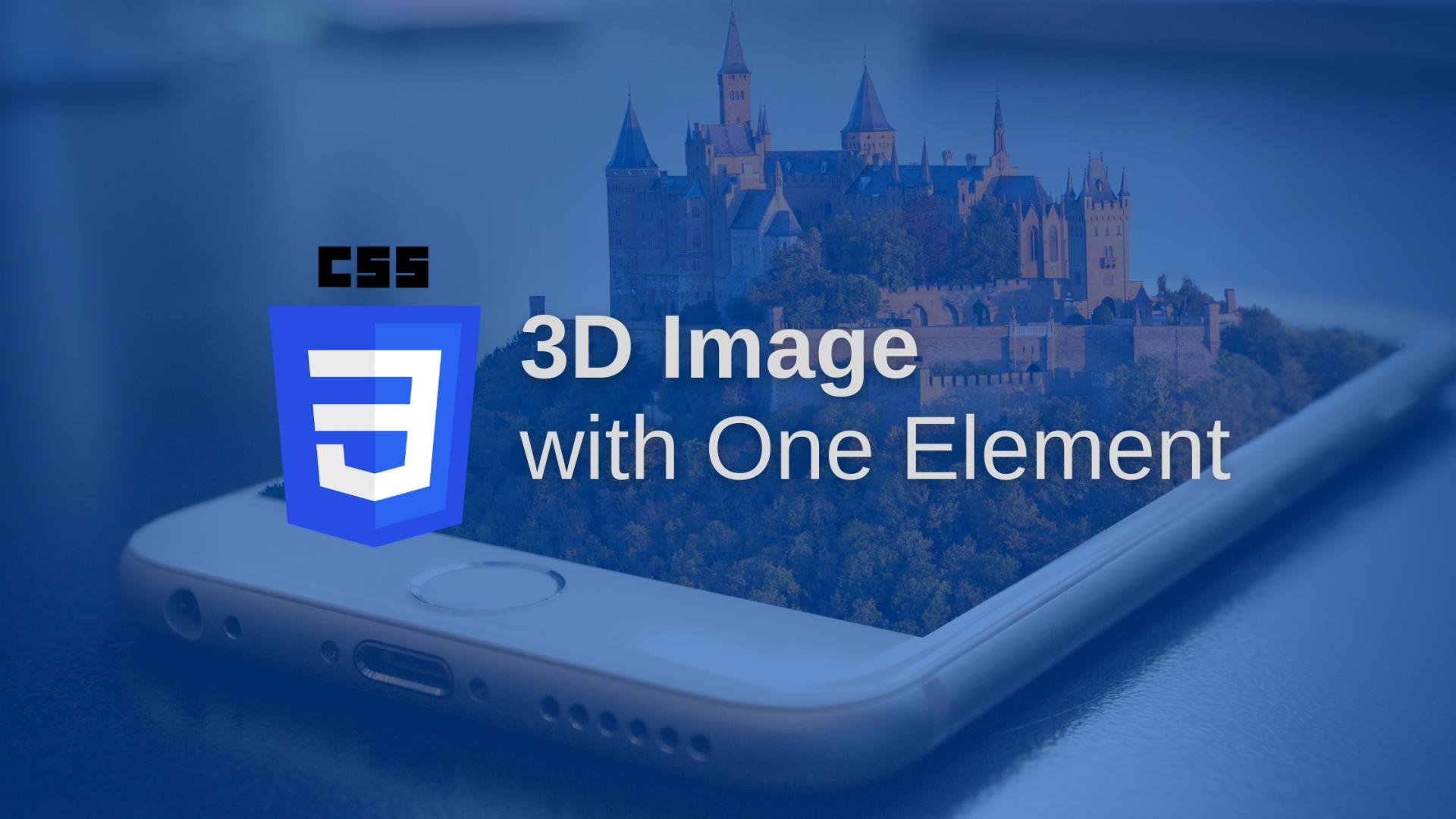 3D image with one element