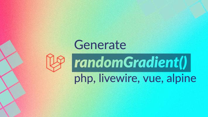 Generate random color gradient background