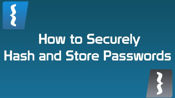 How to properly store a password in the Database