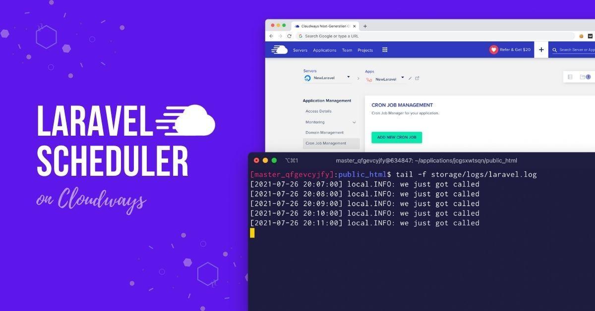 Laravel Scheduler on Cloudways