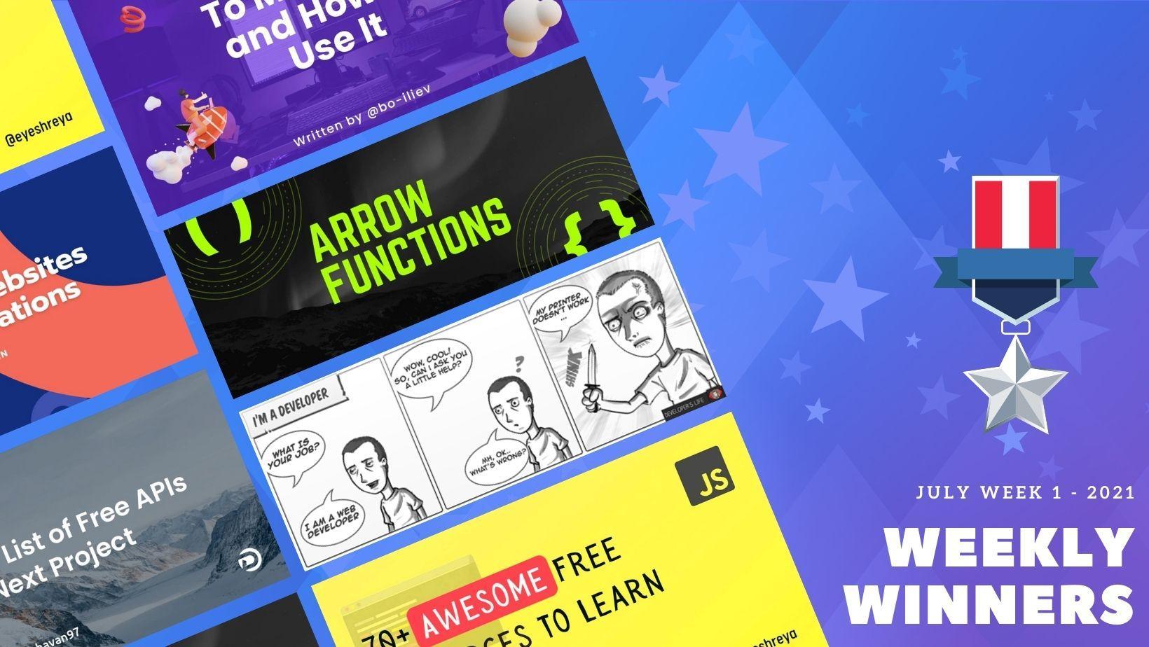 DevDojo Weekly Winners Week 1 July 2021