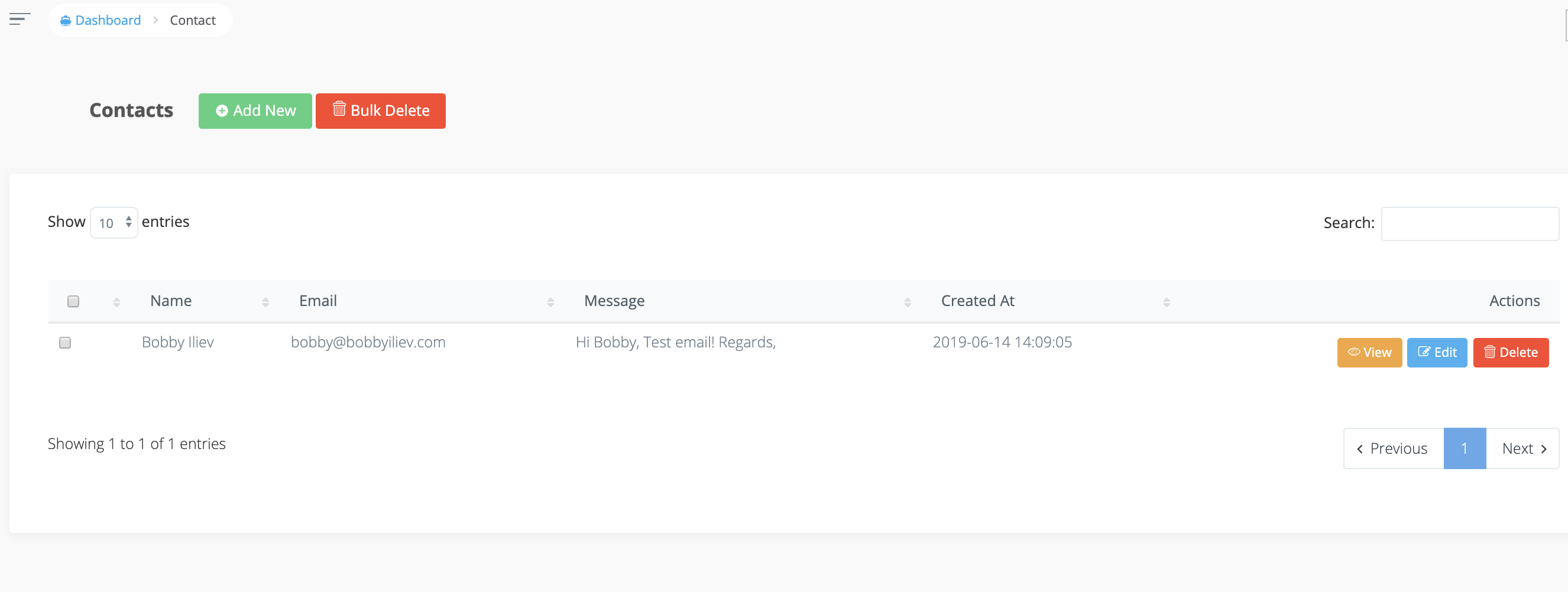 Contact Form with Voyager and Laravel