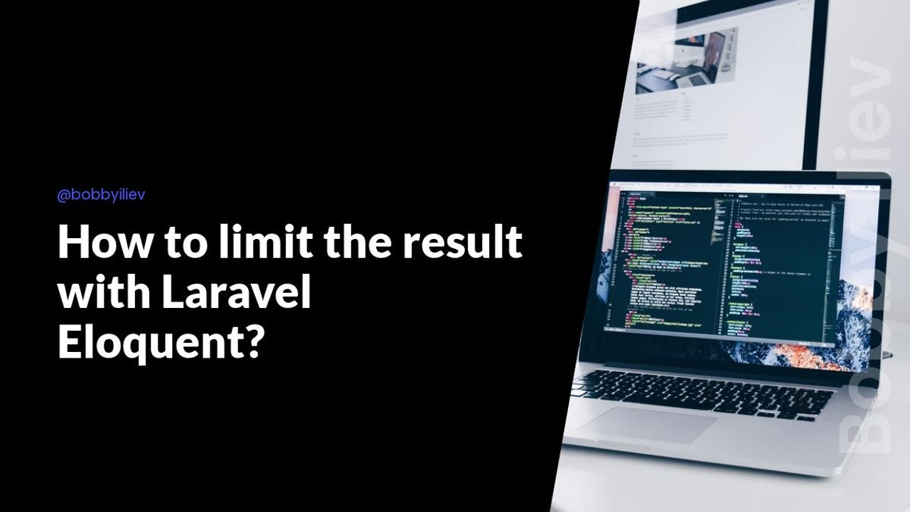 How to limit the result with Laravel Eloquent?