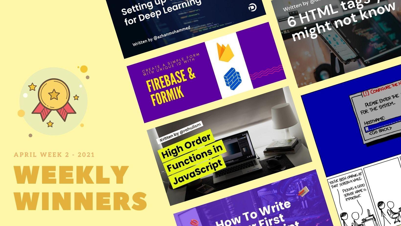 DevDojo Weekly Winners Week 2 June 2021