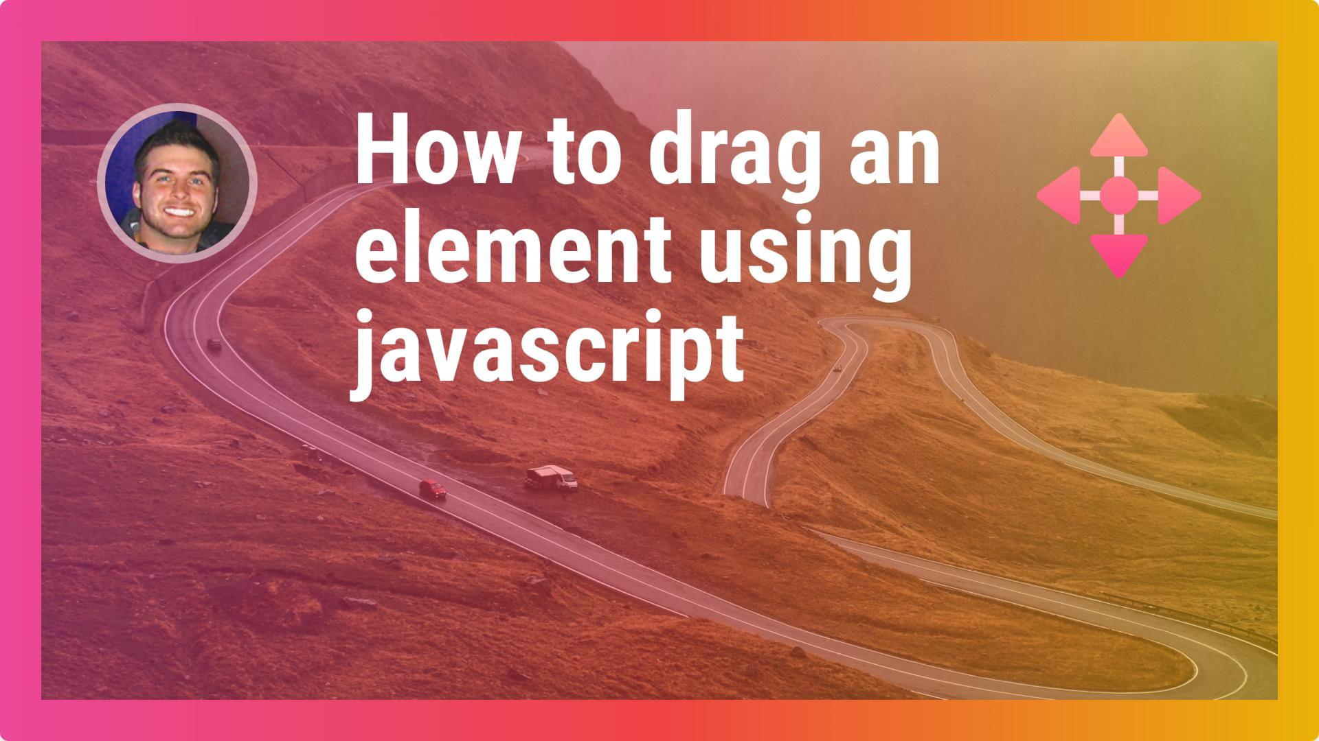 How to drag an element using javascript