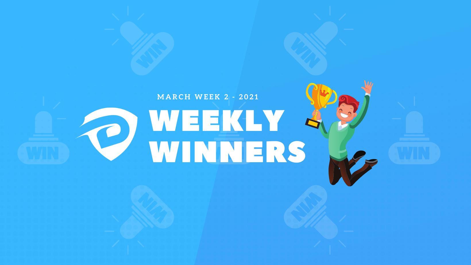 DevDojo Weekly Winners Week 2 March 2021
