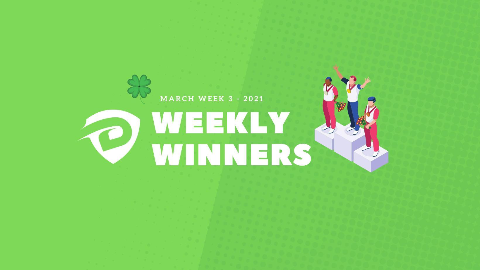 DevDojo Weekly Winners Week 3 March 2021