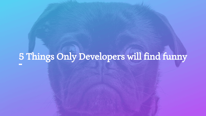 5 Things Only Developers will find funny