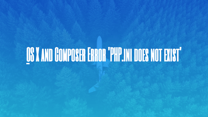 OS X and Composer Error 'PHP.ini does not exist'