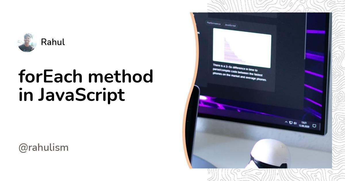forEach method in JavaScript