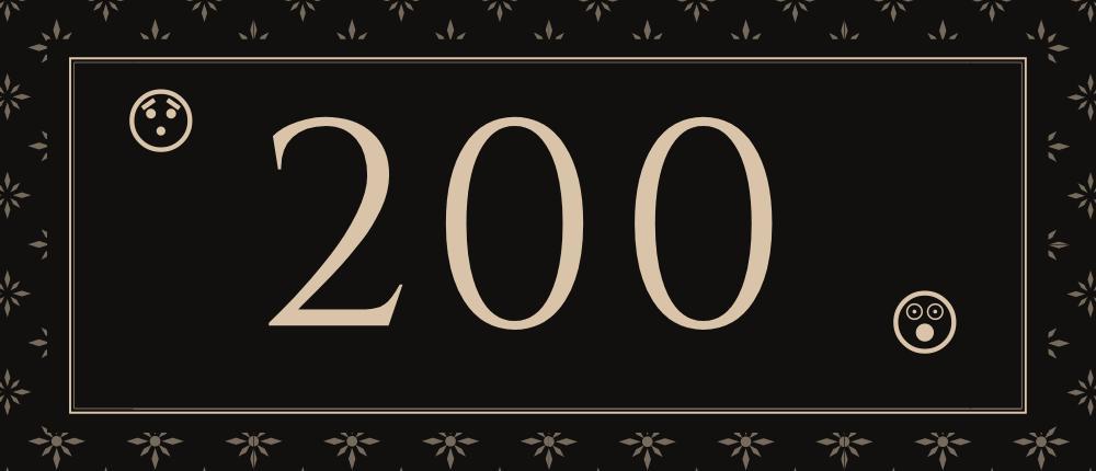 My 200th Post.
