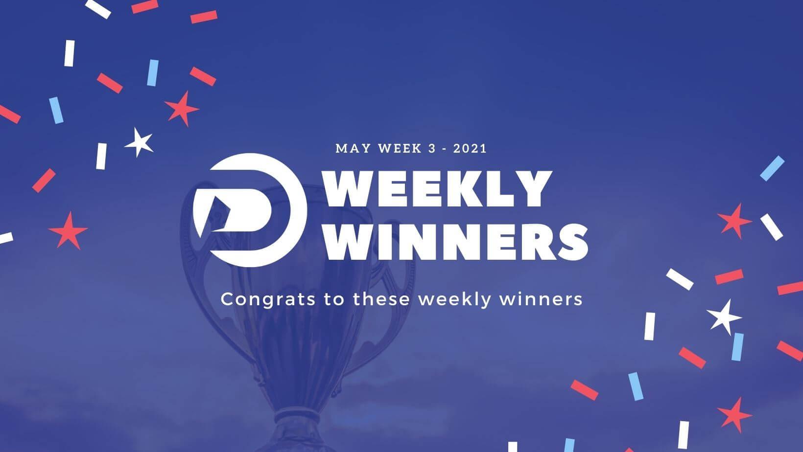 DevDojo Weekly Winners Week 3 May 2021
