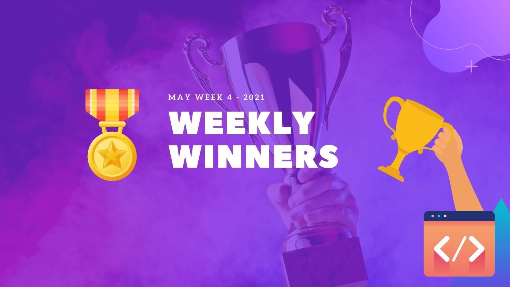 DevDojo Weekly Winners Week 4 May 2021