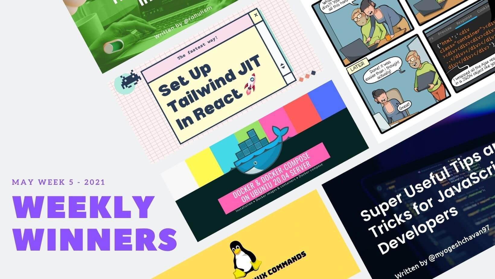 DevDojo Weekly Winners Week 5 May 2021