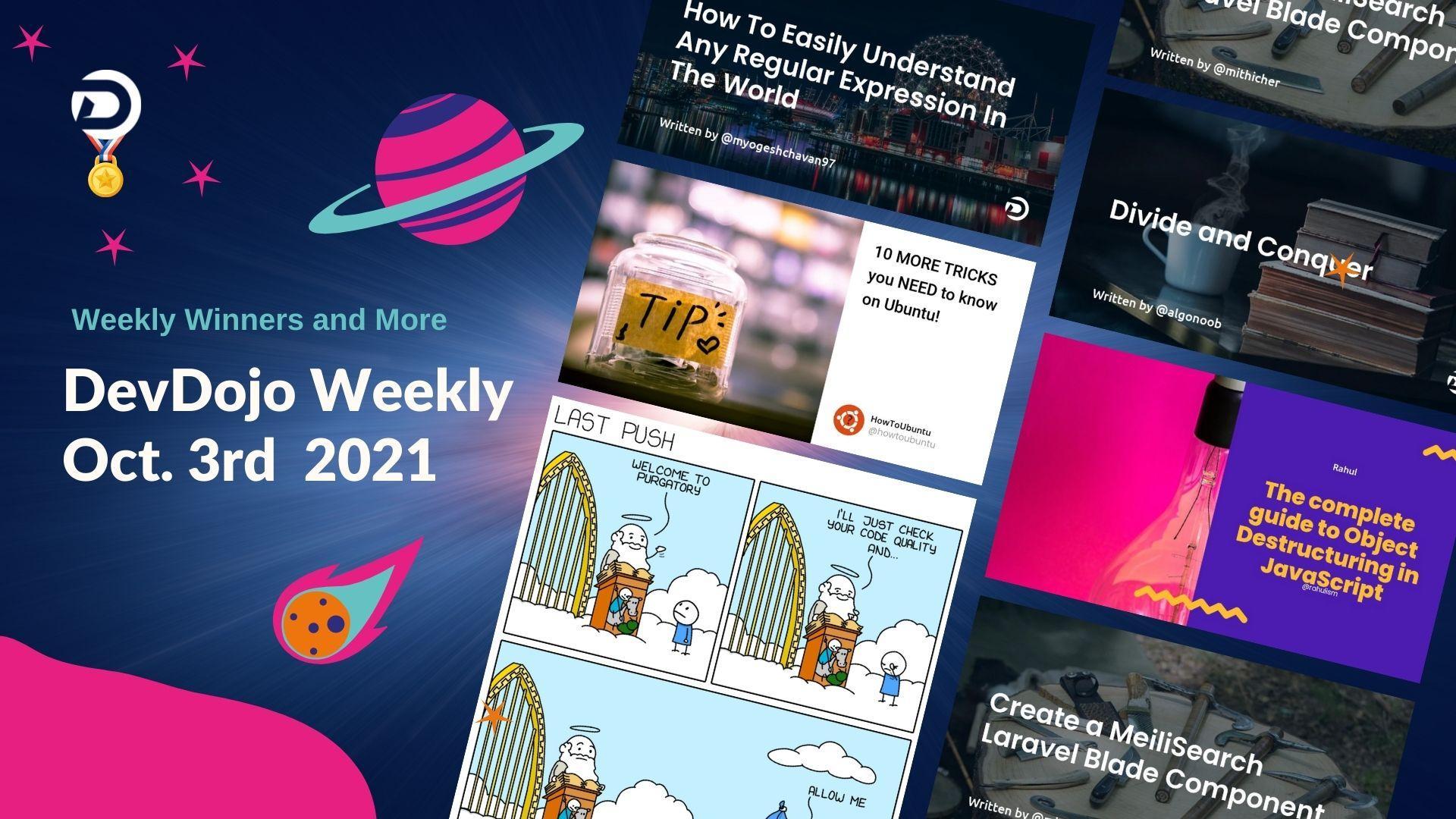 DevDojo Weekly - Oct. 3rd  2021