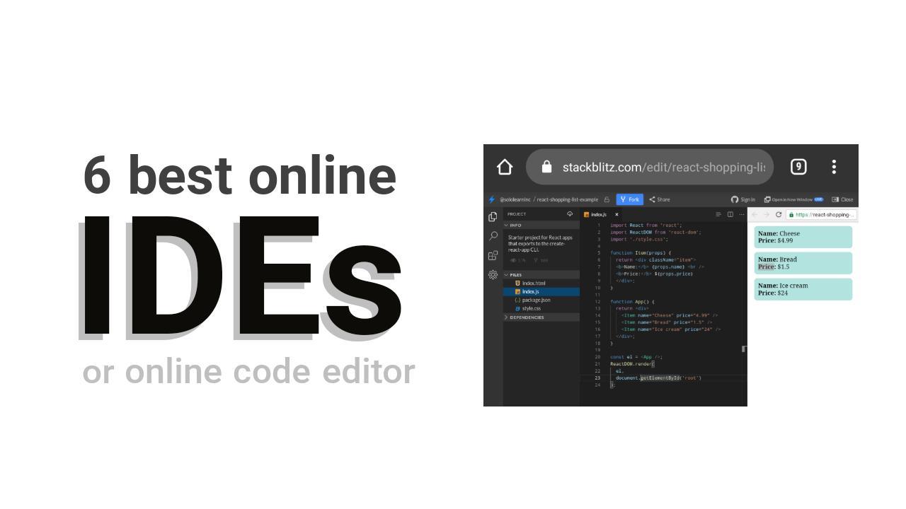 6 Best online IDEs