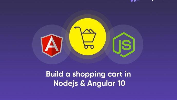 Build a shopping cart in Nodejs and Angular10