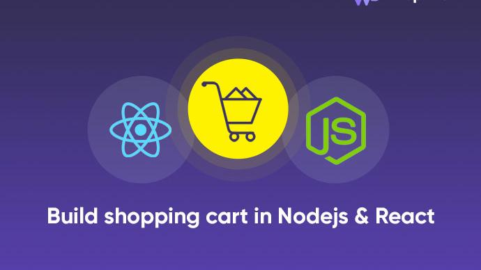 Build a shopping cart in Nodejs and React