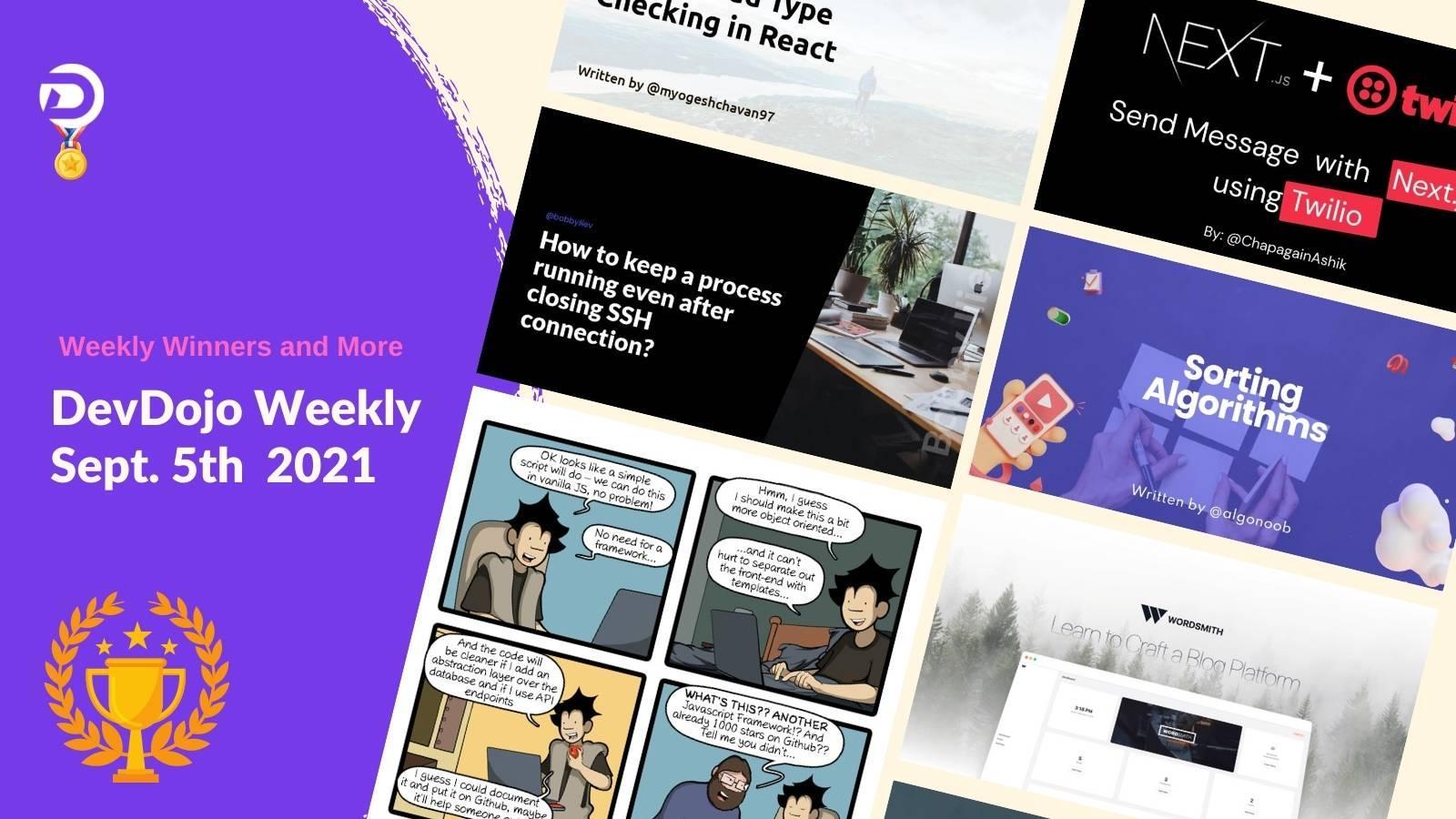 DevDojo Weekly - Sept. 5th  2021