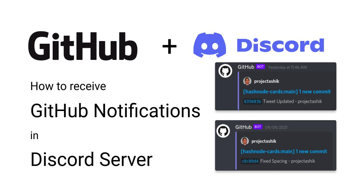 How to get GitHub Notifications in Discord Server?
