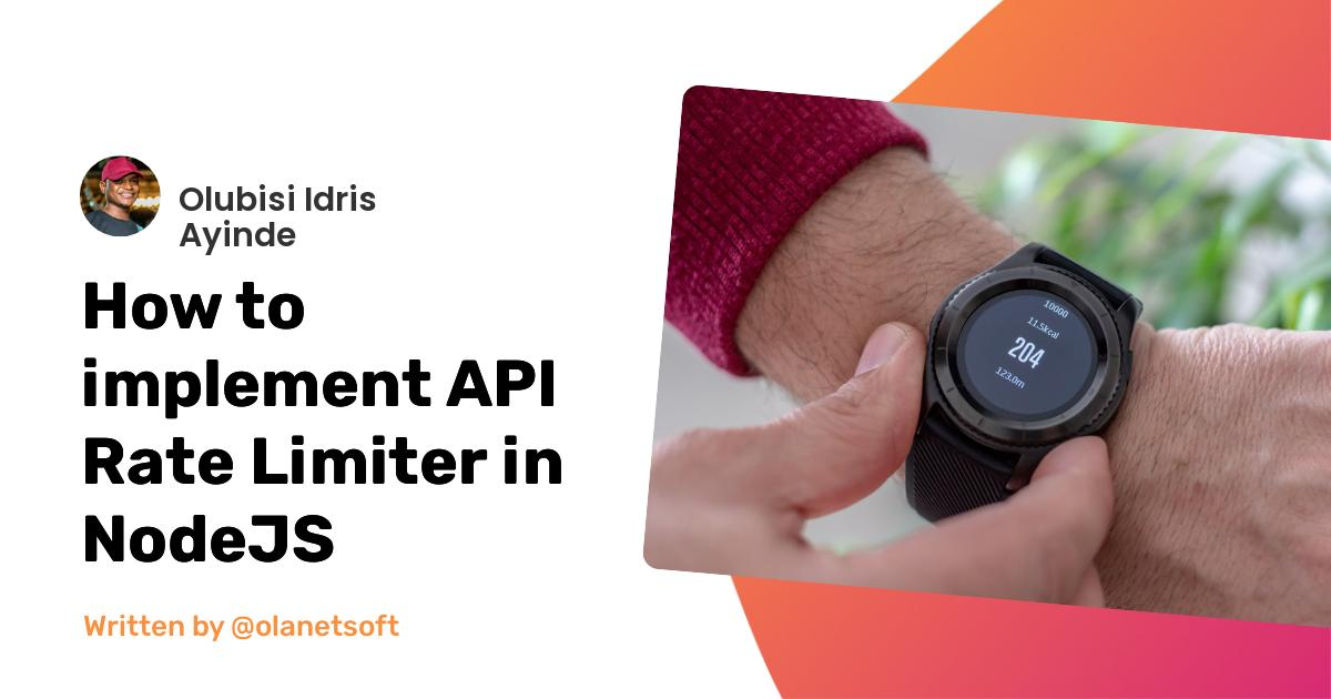 How to implement API Rate Limiter in NodeJS