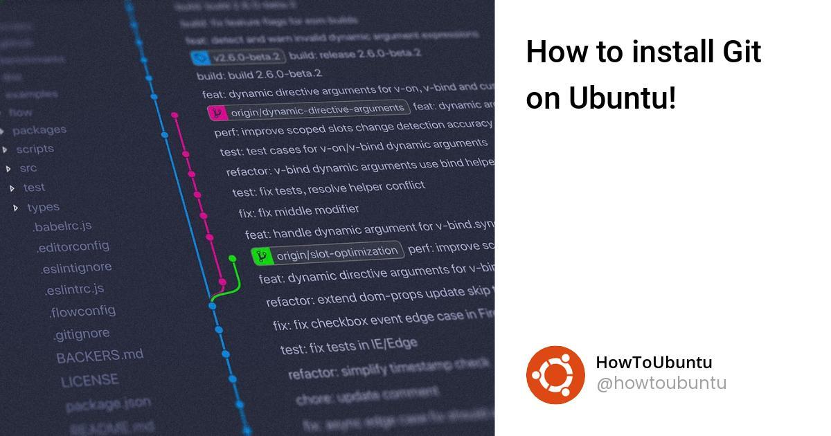 How to install Git on Ubuntu!